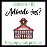 Around Town vocab and IR (Spanish)