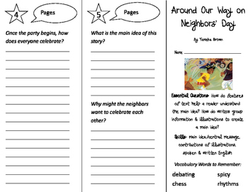 Around our Way on Neighbors' Day Trifold - ReadyGen 3rd Grade Unit 2 Module B