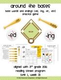 Around the Bases Game (base words/endings ed, ing, er, est