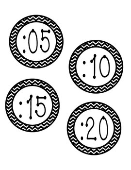Around the Clock Labels - Chevron