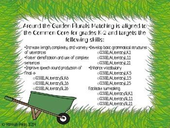 Around the Garden Spring Plurals Match *CCSS Aligned*