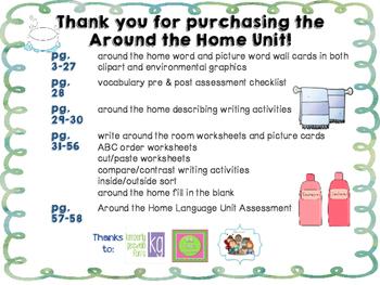 Around the Home Language Unit