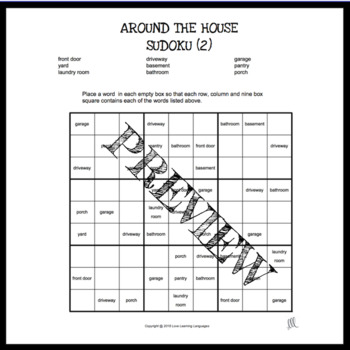 Around the House - ESL Sudoku Games