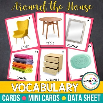 Photo Cards - Around the House | Speech Therapy, Autism & ESL Vocabulary