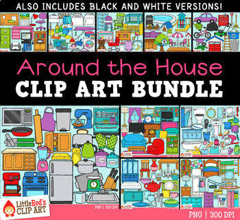 Around the House Clip Art Bundle