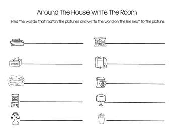 Around the House Write the Room