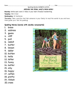 Around the Pond: Spelling