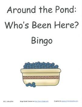 Around the Pond: Who's Been Here? Bingo Game ~ Language Arts Activity