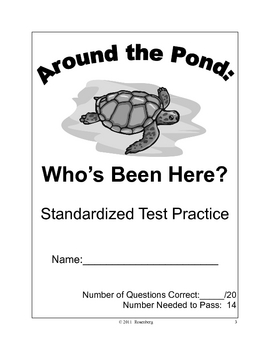Around the Pond:  Who's Been Here? Standardized Test Practice