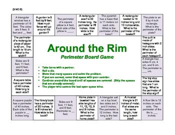 Around the Rim Perimeter Board Game