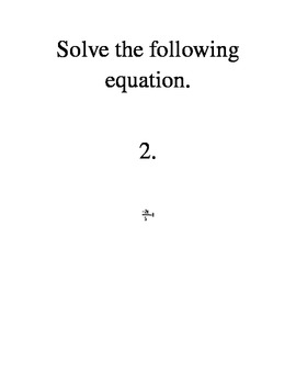 Around the Room Activity- Solving Multi-step equations