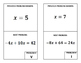 Around the Room Algebra Scavenger Hunts:  Two Step Equations