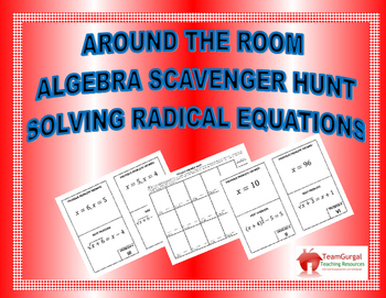 Around the Room Algebra Scavenger Hunts:  Solving Radical Equations