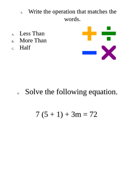 Around the Room Equations Review/Activty