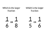 Around the Room: Fractions Exercise