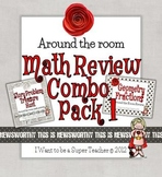 Around the Room Math Reviews Combo Pack 1-Story Problems & Geometry/Fractions