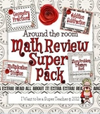Around the Room Math Review SUPER BUNDLE-3rd Grade Math Review SCOOT Activities