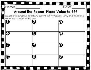 Around the Room: Place Value to 999