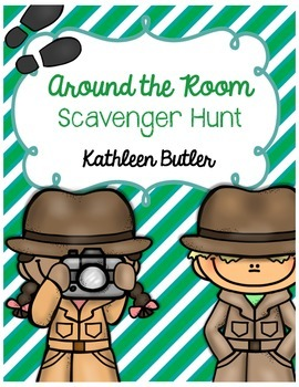Around the Room Scavenger Hunt - Back to School FREEBIE