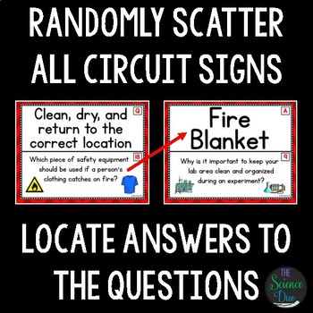 Science Lab Safety - Around the Room Circuit
