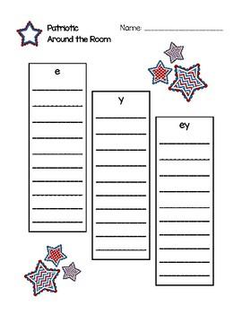 Around the Room - e, y, ey (Patriotic)