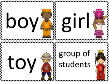 Around the World with Pronouns:  A Write the Room Activity