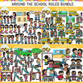 Around the School Rules Clip Art GROWING Bundle