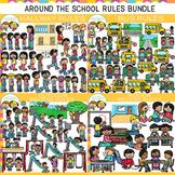 Around the School Rules Clip Art Bundle