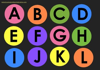 Around the Table ABCs: Upper Case Letters