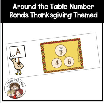 Around the Tables: Thanksgiving Complete the Number Bond Activity