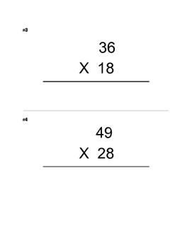 Around the World! 1-2-3 Digit Multiplication Problems