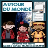 French Around the World Middle School Project:  Avoir et Etre