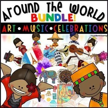 Around the World: Music, Dance, Art, Holidays, and Decor