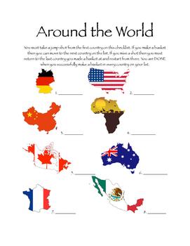 Around the World - Basketball Shooting Activity