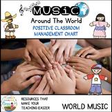 Around the  World Positive Classroom Management/ class Reward Chart