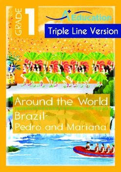 Around the World - Brazil: Pedro and Mariana (with 'Triple-Track Writing Lines')