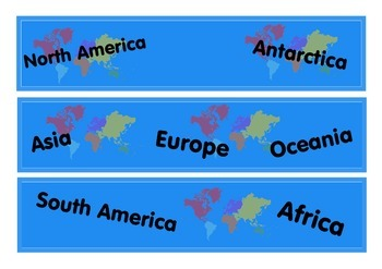 Around the World Bulletin Board Border