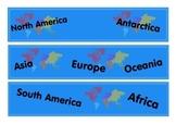 Around the World Bulletin Board Border
