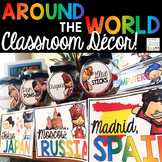 Around the World Classroom Decor - Editable