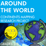 Around the World Continents Research Mapping Project