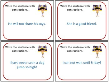 Around the World Contraction Task Cards