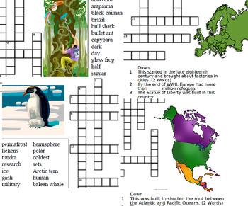 Around the World Crosswords