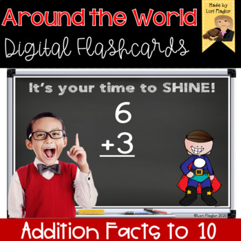 Around the World- Digital Edition Additon Facts Sums to 10