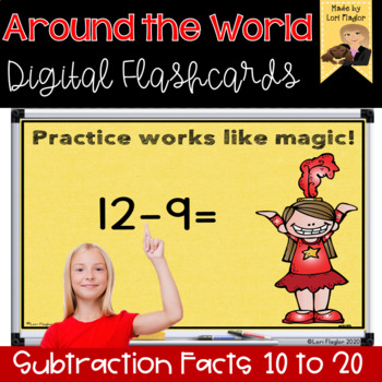 Around the World- Digital Edition Subtraction Differences from 10-20