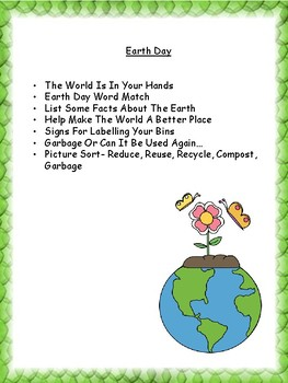 Around the World- Earth Day, 4 R's, Garbage Patch and Families of the Dump