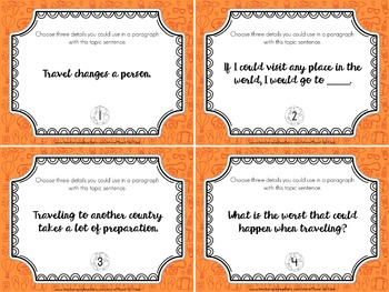 Around the World Writing Task Cards