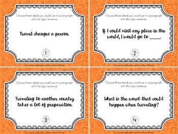 Around the World Writing Task Cards