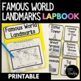 Around the World Famous Landmarks Social Studies Lapbook