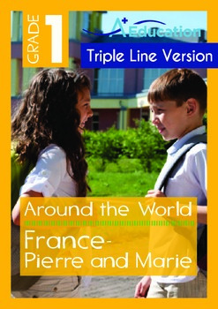 Around the World - France: Pierre and Marie (with 'Triple-Track Writing Lines')
