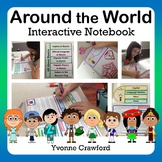 Around the World Interactive Notebook with Scaffolded Notes Distance Learning